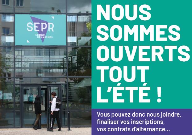 La SEPR est ouverte tout l'été